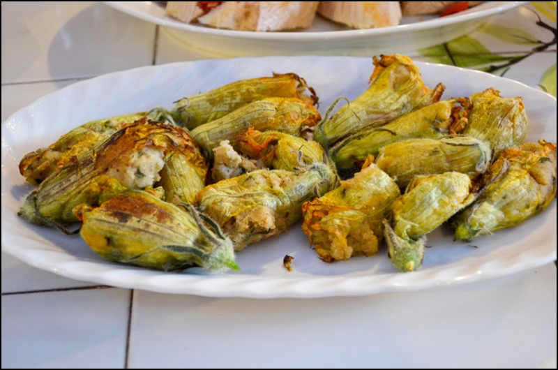 Mr. Kate | stuffed zucchini flowers and pasta al pomodoro