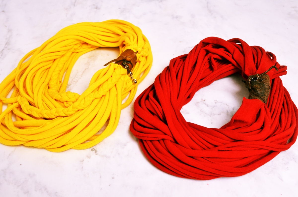 Mr. Kate - DIY upcycled t-shirt scarf