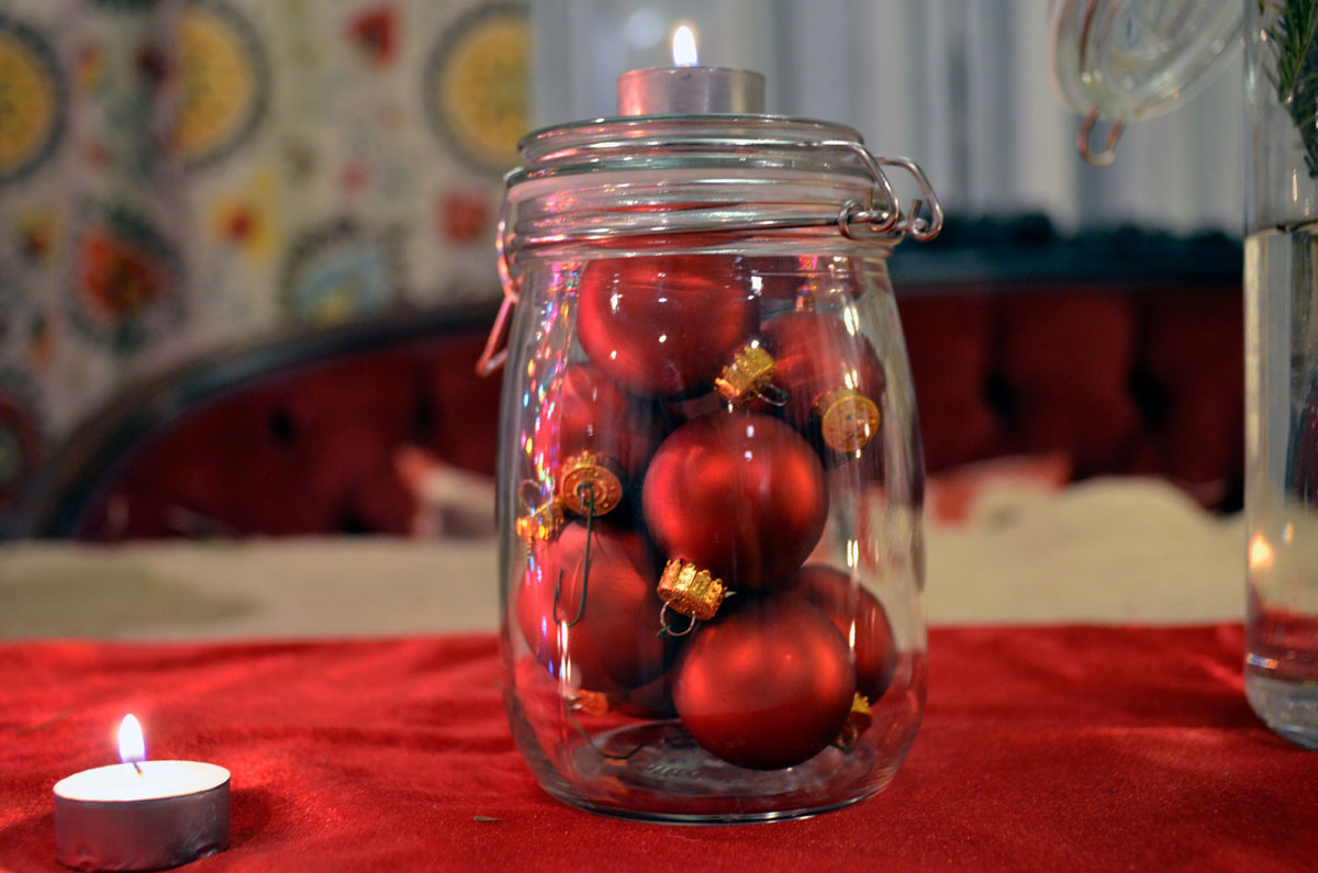 Mr kate holiday diy glass jar centerpiece