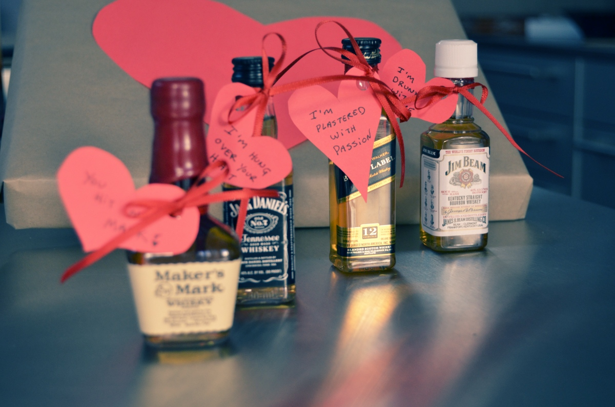 Mr kate diy liquor and hearts valentine for guys for Small valentines gifts for him