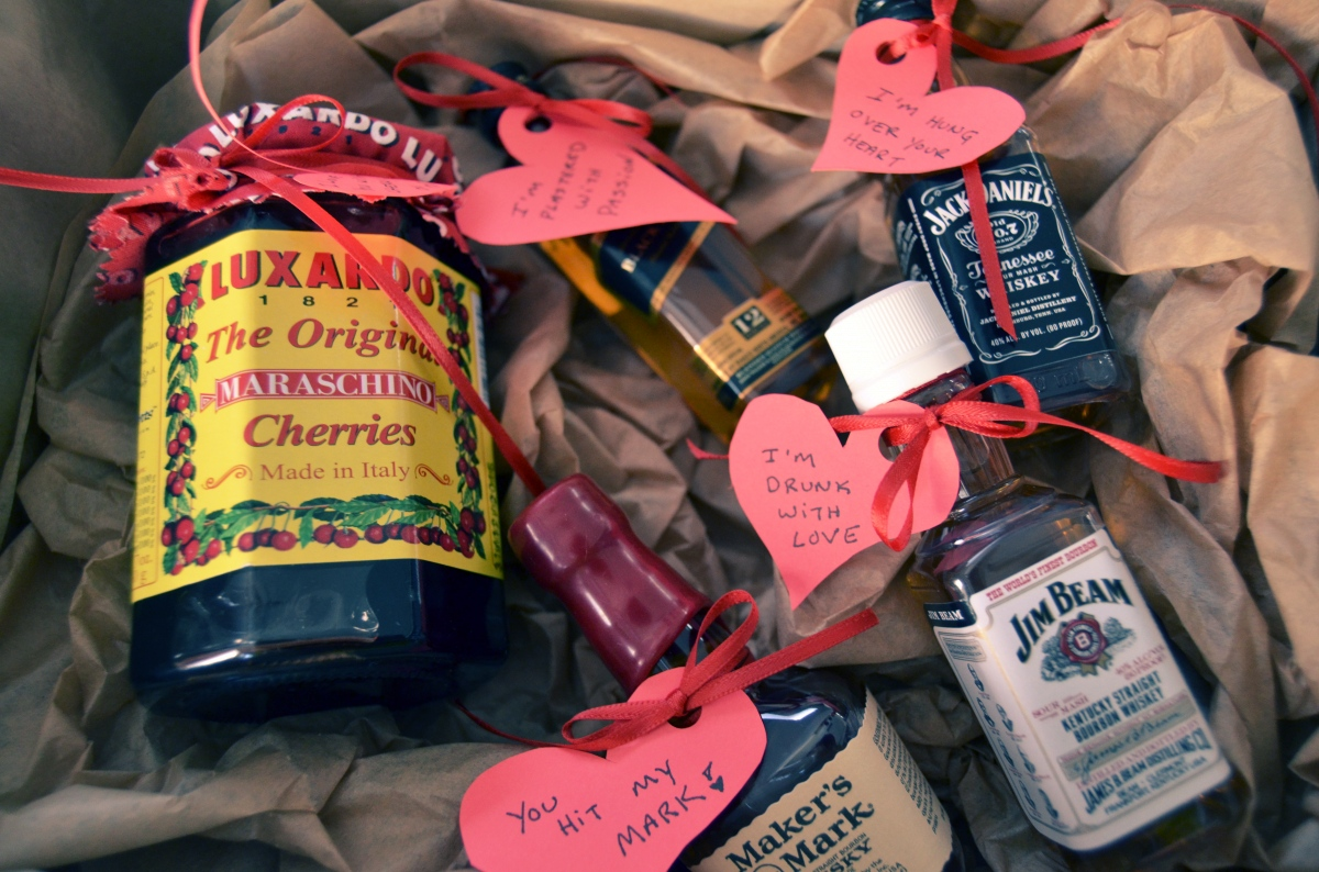 Mr Kate Diy Liquor And Hearts Valentine For Guys