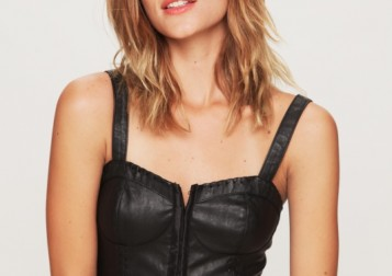 vegan leather bra