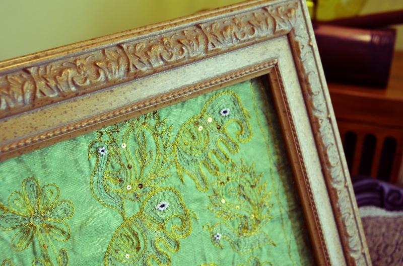 Mr. Kate - DIY framed fabric art