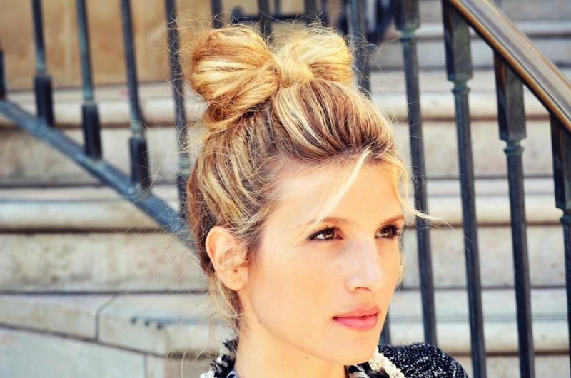 Mr Kate DIY Hair Bow Bun Tutorial - Hairstyle bun with bow