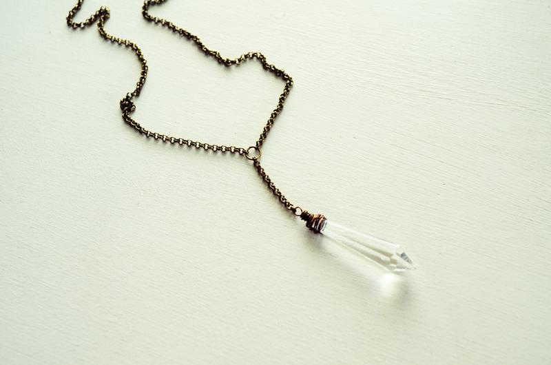 Mr. Kate - DIY vintage chandelier crystal necklace