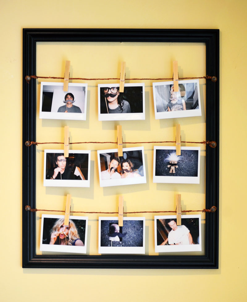 Mr kate diy father s day instant photo art from access for Picture frame with clips diy