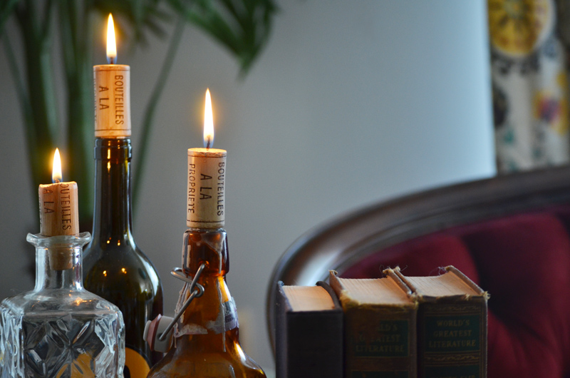 these are the coolest theyre candles made to look like wine corks and can turn any bottle into a decadent candle holder the bottom is tapered so it fits - Candles Home Decor