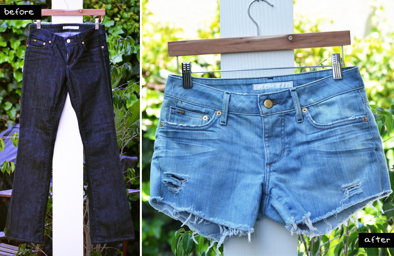Mr. Kate - DIY style: perfectly distressed jean shorts
