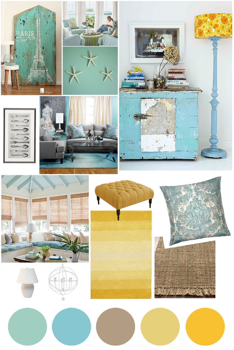 Beach house interior color palette joy studio design for Interior colour design