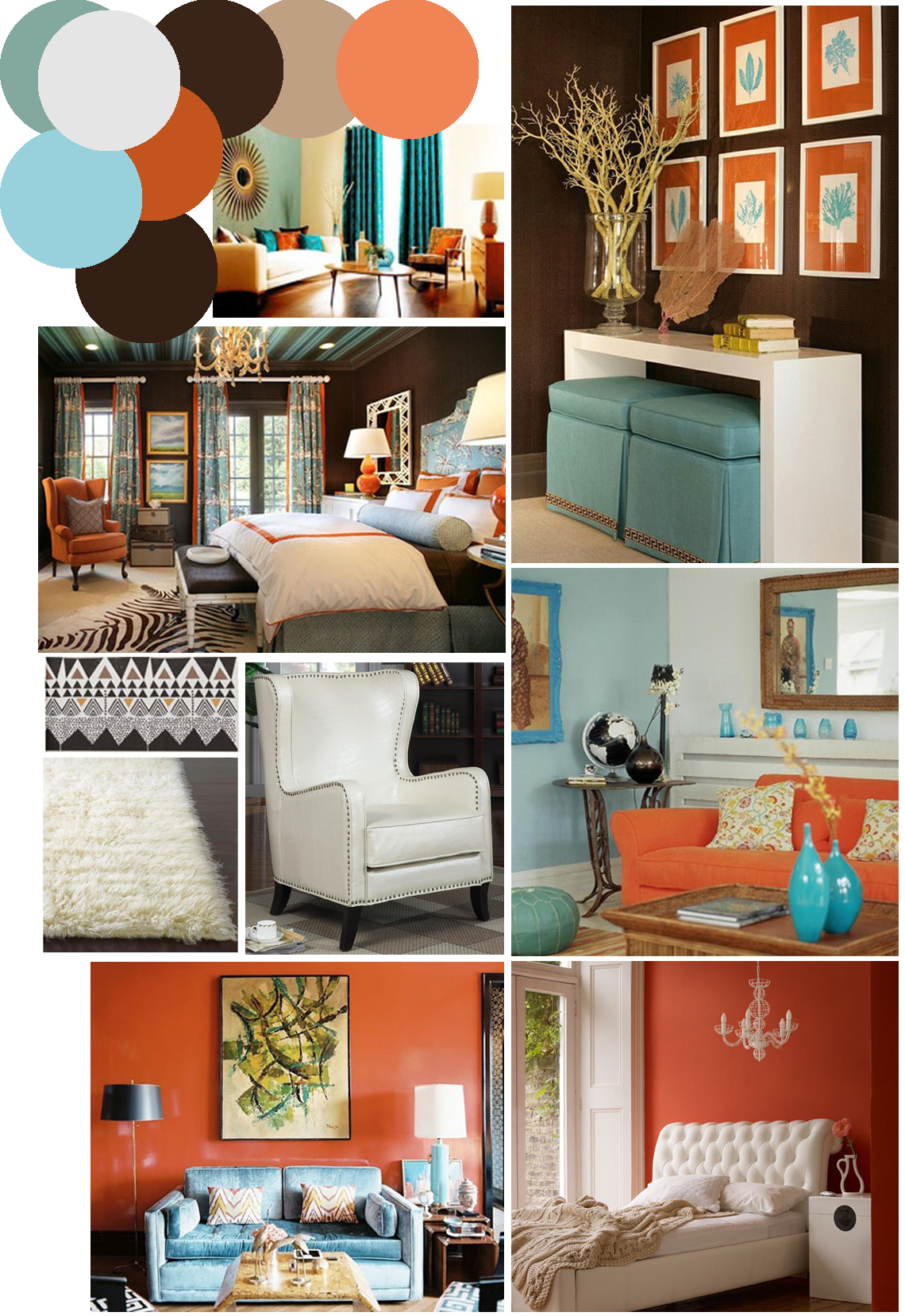 Mr. Kate   Color Palette Inspo: Chocolate Brown, Coral And Robinu0027s Egg Blue Part 72