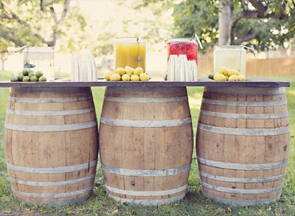 Mr Kate DIY Wine Barrel Tables