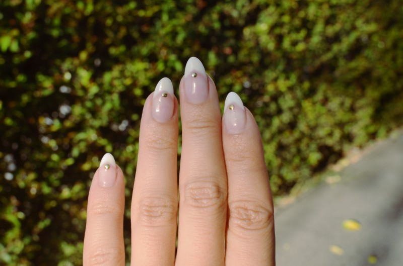Mr  Kate - nails of the week: stiletto french with studs