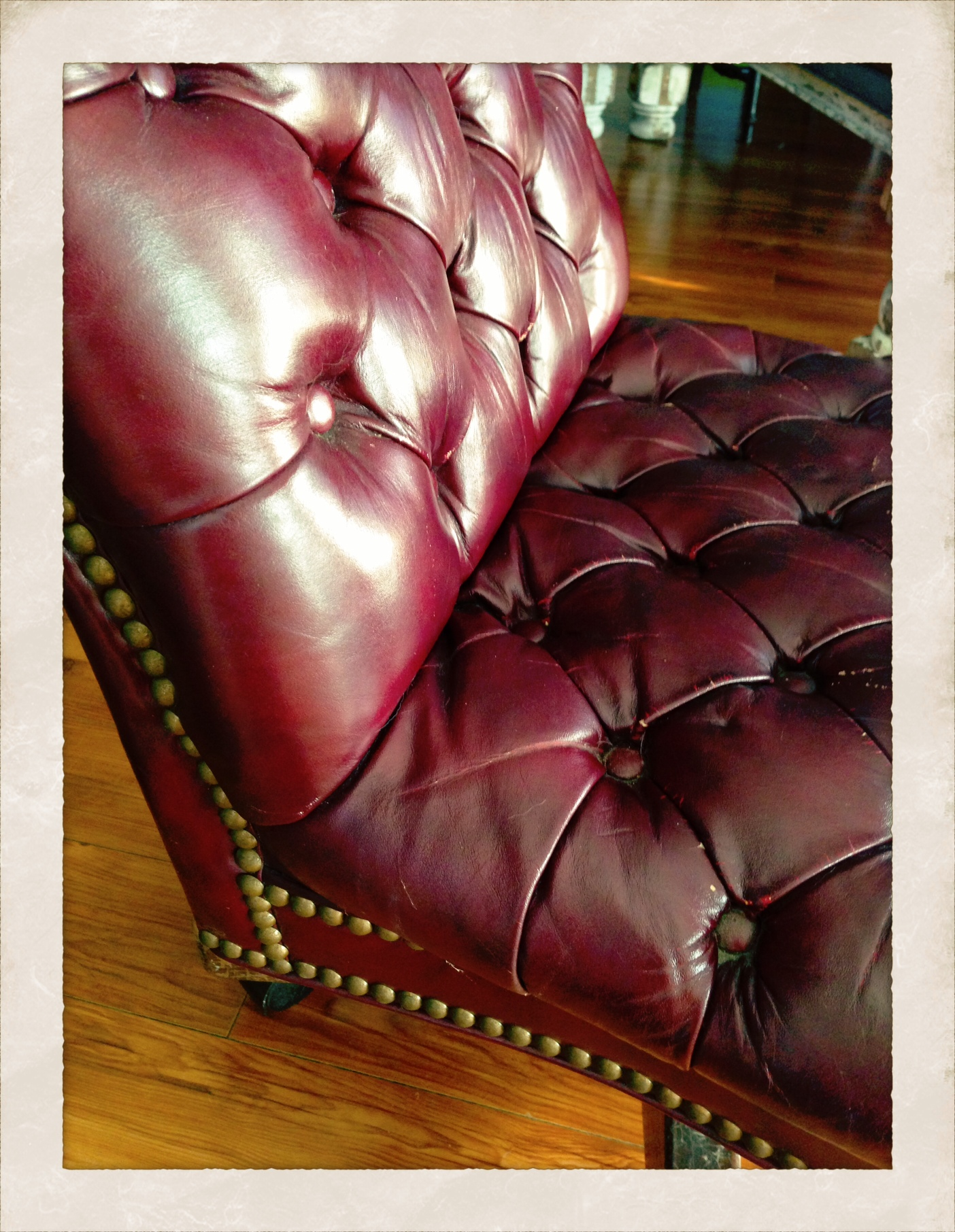 Mr Kate flea market find tufted leather office chair