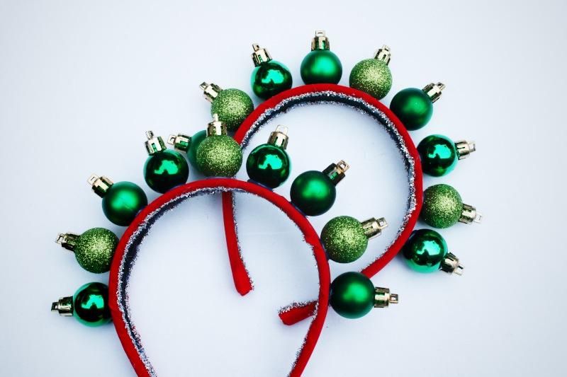 Mr Kate  DIY Christmas holiday ornament headband