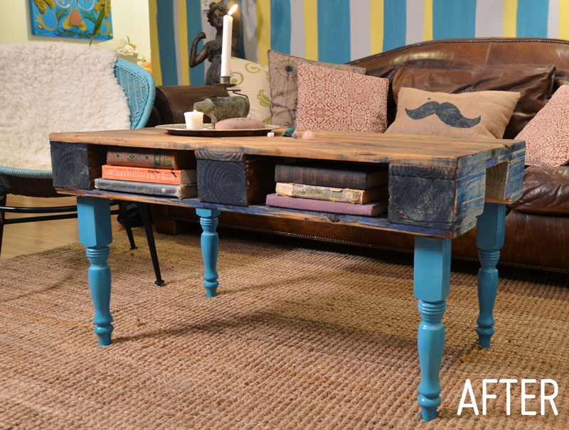 Mr kate diy wood pallet coffee table for Table palette