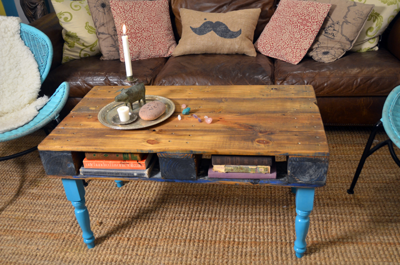Mr. Kate | DIY wood pallet coffee table
