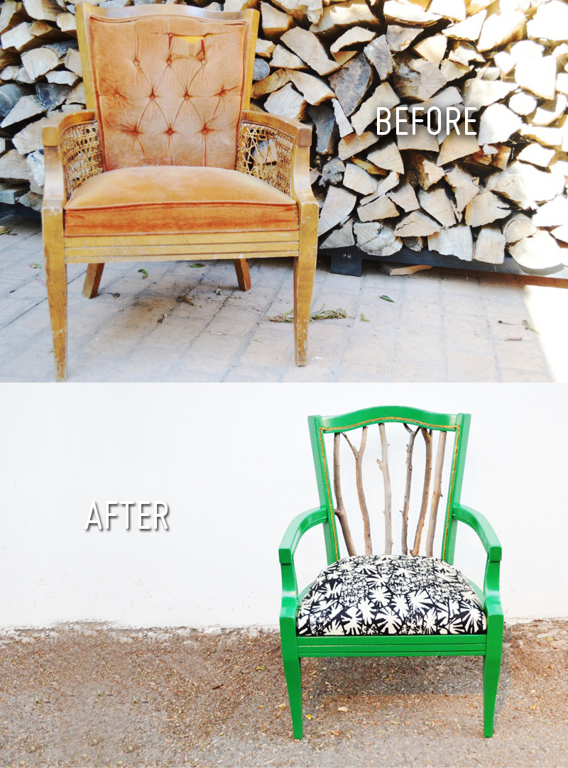 diy trash to treasure statment chair. Black Bedroom Furniture Sets. Home Design Ideas