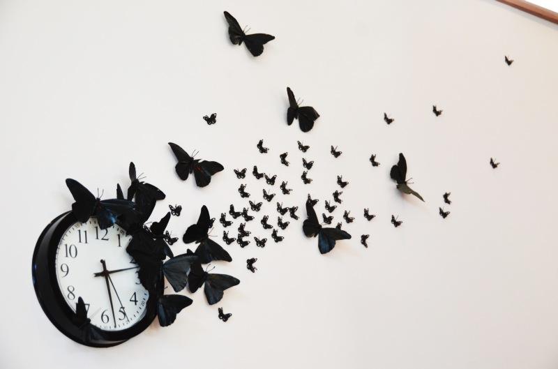 Mr Kate Diy Time Flies Butterfly Clock