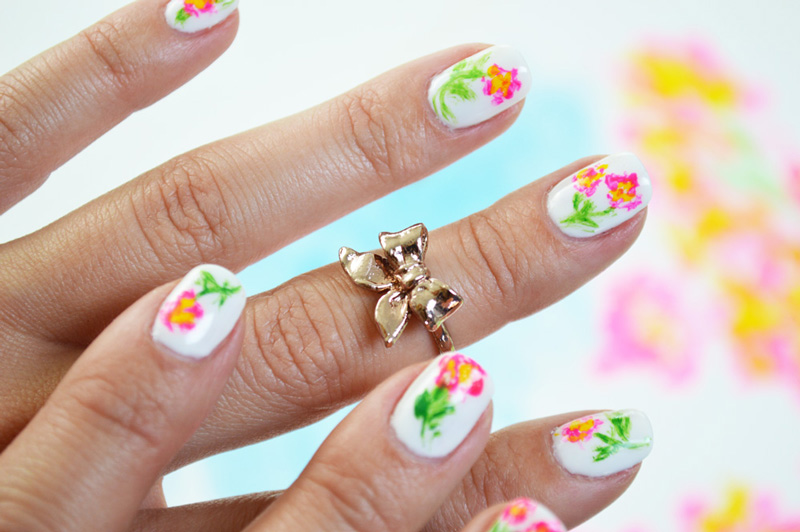 Mr kate diy artist paint floral nail art diy artist paint floral nail art prinsesfo Gallery