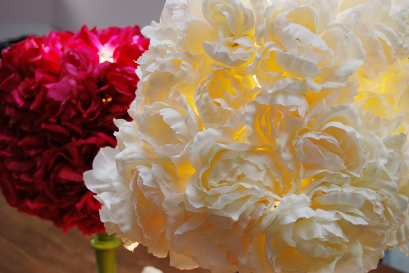 Mr kate diy faux flower lampshade an error occurred mozeypictures Gallery