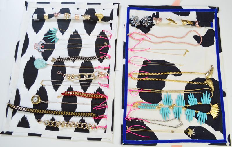 Come realizzare un rotolo porta gioielli da viaggio fai da te creativo - Porta collane fai da te ...