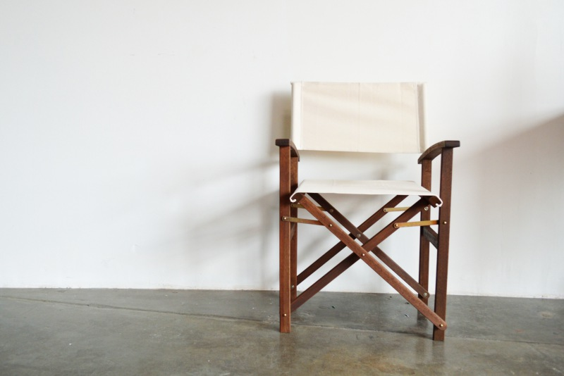 DIY Painted Canvas Chair