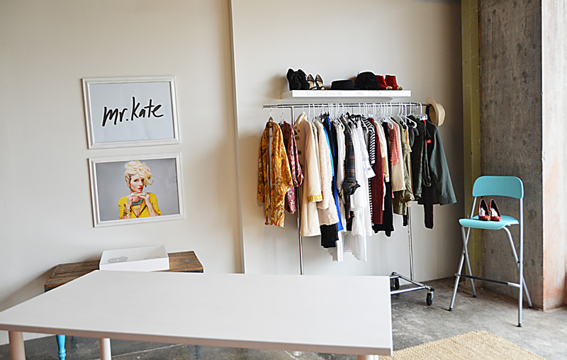 Mr. Kate - garment rack and floating shelf closet wall