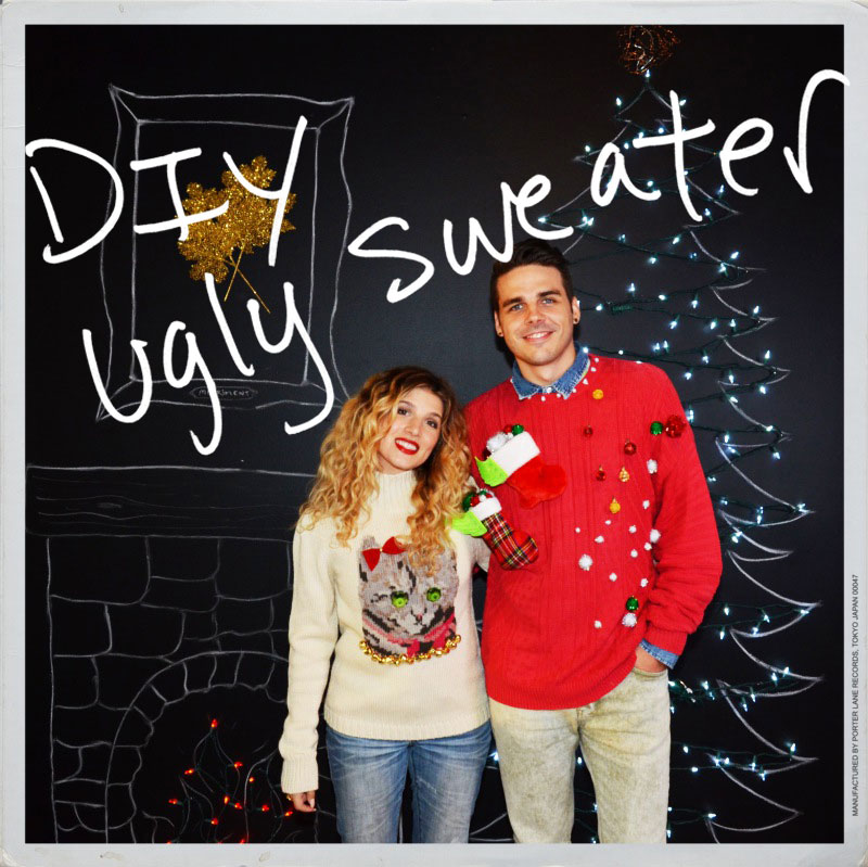 Mr. Kate - DIY ugly christmas sweater