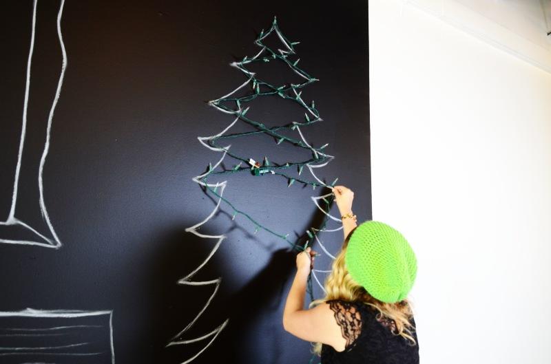 Mr. kate diy winter christmas wall decor