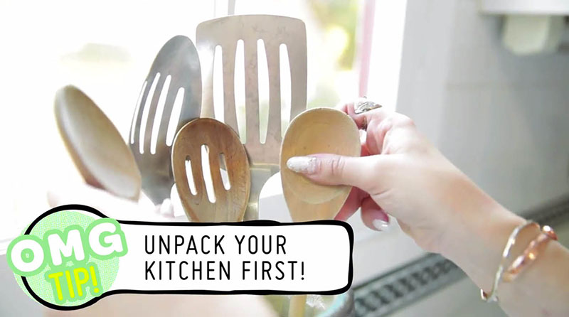 unpack kitchen