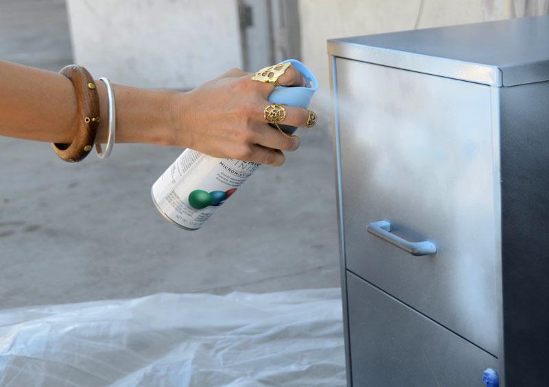 Mr Kate DIY Chalkboard Stripe Filing Cabinet - Funky filing cabinets