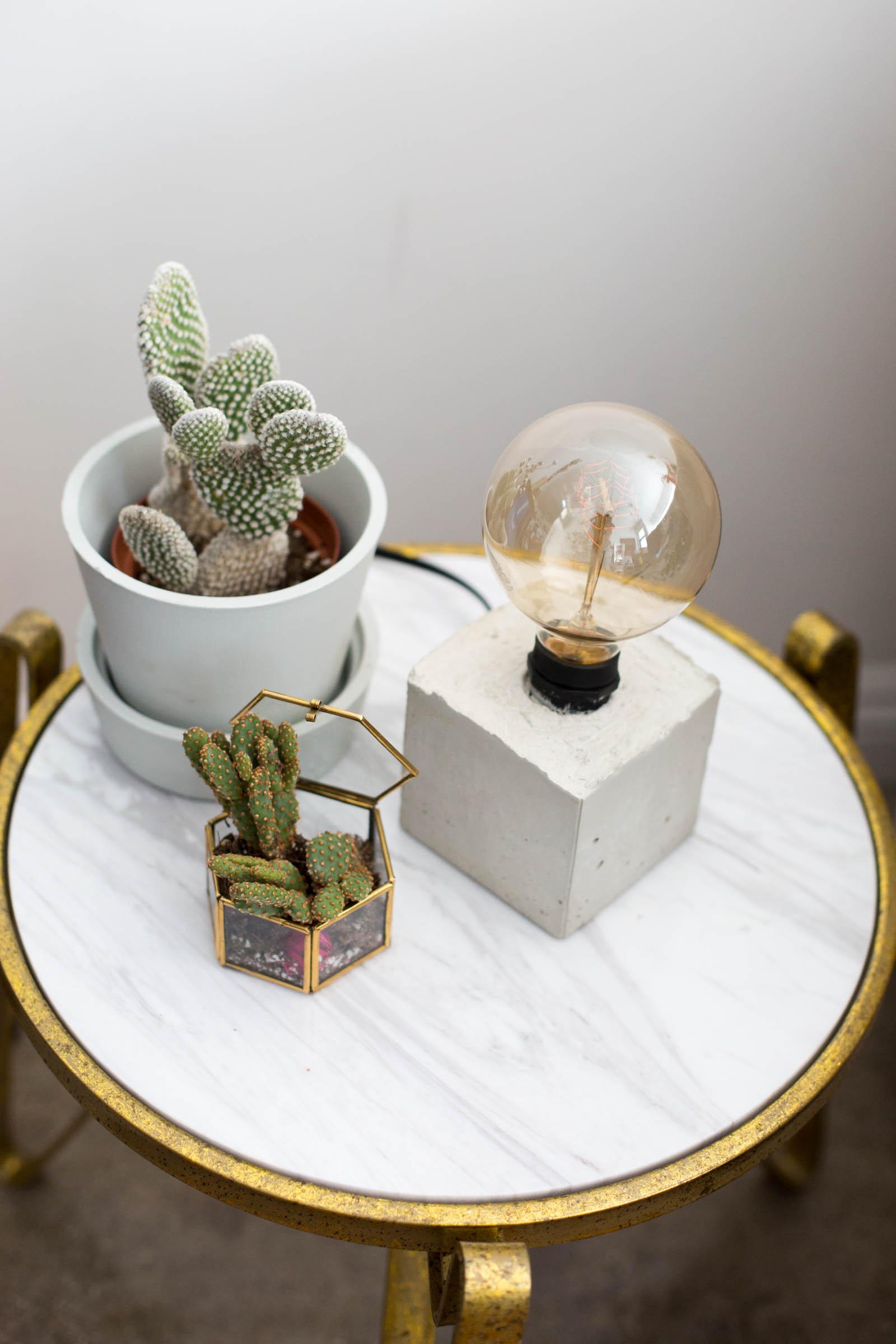 Diy For Teenage Bedroom Makeover: DIY Concrete Lamp