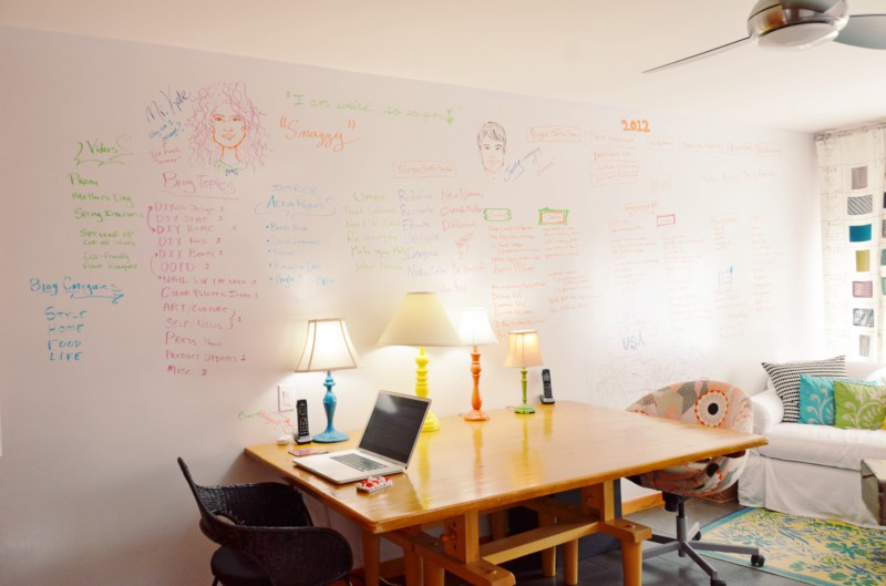 Mr Kate Diy Whiteboard Wall Write On Your Walls