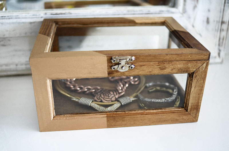 Mr Kate Diy Stained Wood And Gold Jewelry Box